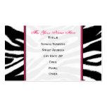 Zebra Print / Pink Teacher Fashion Business Card