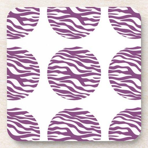 Zebra Print Polka Dots Coasters