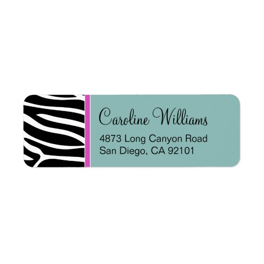Zebra Print Return Address Label
