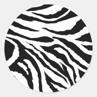 Zebra Print Round Stickers