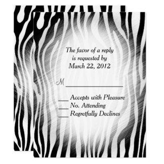 Zebra Print RSVP Card