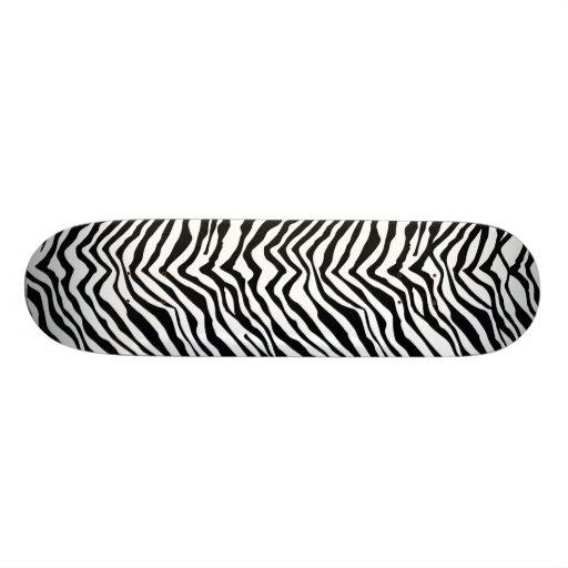 Zebra Print Skateboard