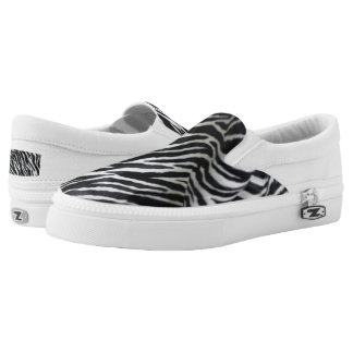 Zebra Print Slip-On Tennis