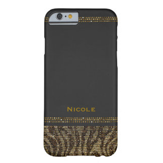 Zebra Print Sparkle Sequins Glam Chic Modern Barely There iPhone 6 Case