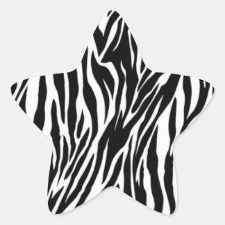 zebra print star sticker