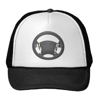 Zebra Print Steering Wheel Mesh Hats