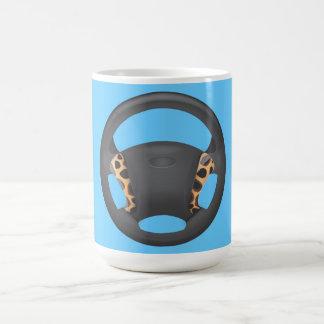 Zebra Print Steering Wheel Coffee Mugs