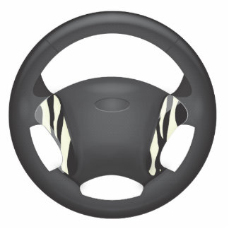Zebra Print Steering Wheel Cut Out