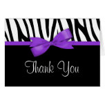 Zebra Purple Bow Thank You