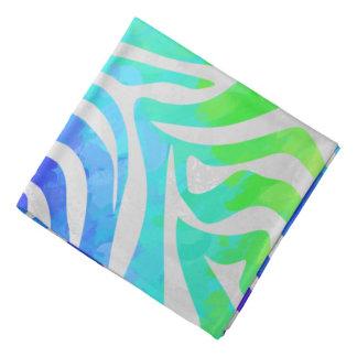 Zebra Rainbow and White Print Kerchiefs