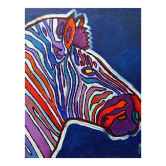 Zebra Rainbow by Piliero Flyer Design