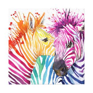 Zebra Rainbow Canvas