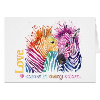 Zebra Rainbow Gifts Greeting Card