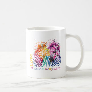 zebra rainbow LOVE Coffee Mug