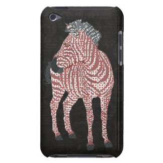 Zebra Red Art Case Barely There iPod Case
