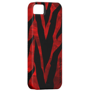 Zebra Red Iphone 5 Case For The iPhone 5