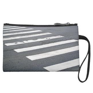 Zebra Road Crossing Wristlet