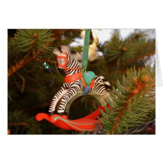 Zebra Rocking Horse Card