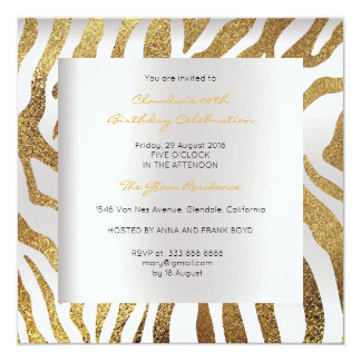 Zebra Safari Animal Skin Silver Gray Gold Luxury Card