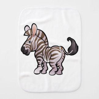 Zebra Safari Animals Cartoon Character Baby Burp Cloths