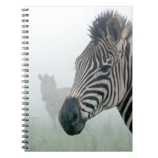 Zebra Safari Cute African Classy Stripes Spiral Notebooks