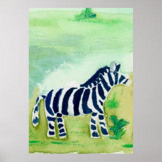 Zebra Safari Friend Poster