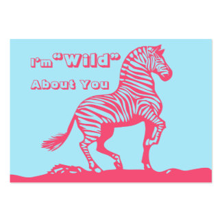 Zebra School Kids Valentines Day Cards in Bulk Pack Of Chubby Business Cards