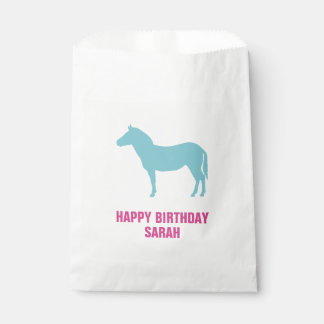 Zebra Silhouette Birthday Goodie Favour Bag