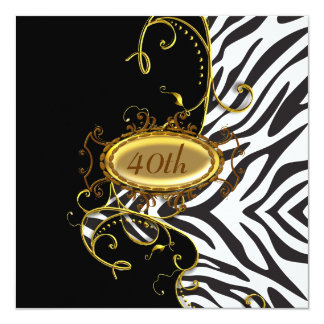 Zebra skin Birthday party Invitation