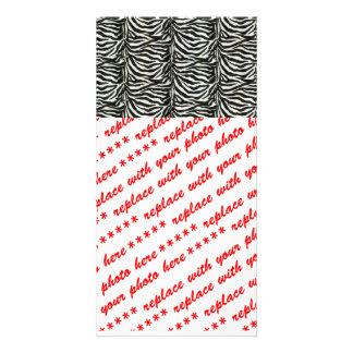 Zebra Skin Camouflage Texture Card