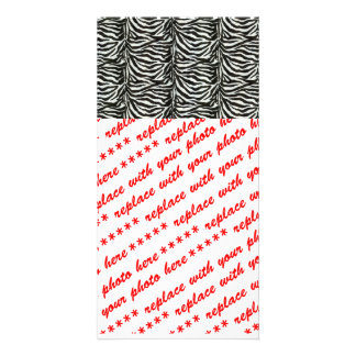 Zebra Skin Camouflage Texture Customized Photo Card