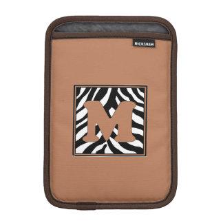 Zebra Skin M Monogrammed iPad Mini Sleeve