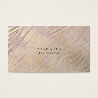 Zebra Skin Mauve Amethyst Gold Makeup Stylist Business Card