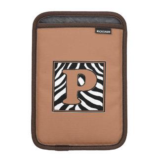 Zebra Skin P Monogrammed iPad Mini Sleeve