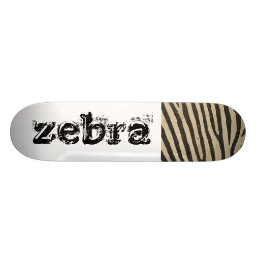 Zebra Skin Pattern Custom Skate Board