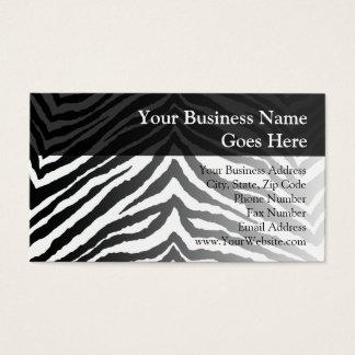 Zebra Skin Print Business Card