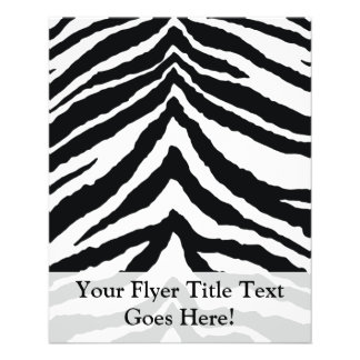 Zebra Skin Print Custom Flyer