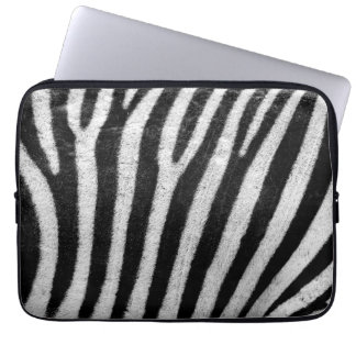 Zebra Skin Print Laptop Computer Sleeve