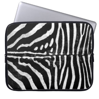 Zebra Skin Print Laptop Sleeve
