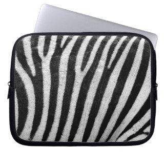 Zebra Skin Print Laptop Sleeve