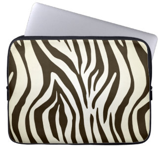 Zebra skin print stripes pattern computer sleeves