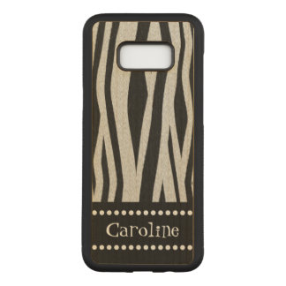 "Zebra Stripe ""Add Your Name"" Carved Samsung Galaxy S8+ Case"