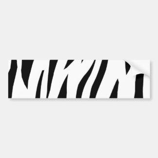 Zebra Stripe Car Bumper Sticker