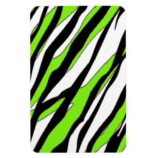 Zebra Stripe Lime Green Rectangular Photo Magnet
