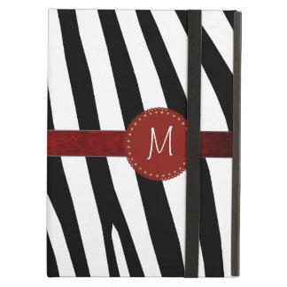 Zebra Stripe Monogram iPad Air Case With Stand