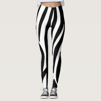 Zebra stripe pattern leggings