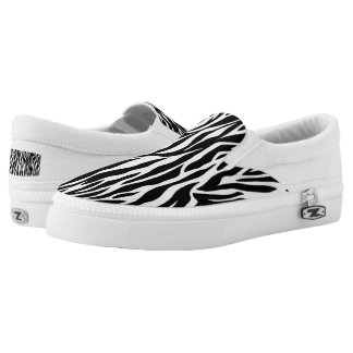 Zebra stripe pattern Slip-On shoes