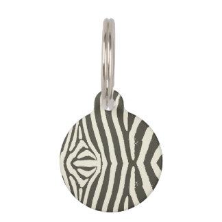 Zebra Stripe Pet Tag