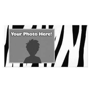 Zebra Stripe Personalized Photo Card