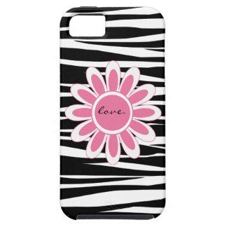 Zebra Stripe Pink Love iphone 5 Case